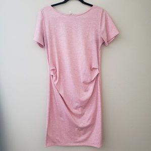 Pink Blush Maternity Midi Dress